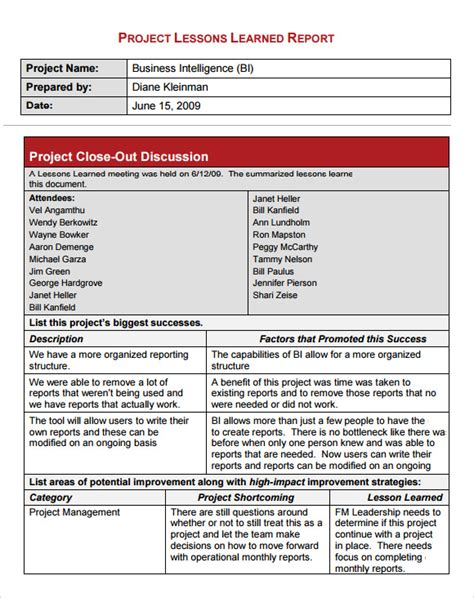 lessons learned template lessons learned template 6 free documents in pdf word excel