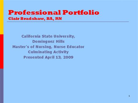 nursing professional portfolio template professional portfolio clair bradshaw ba rn docslide