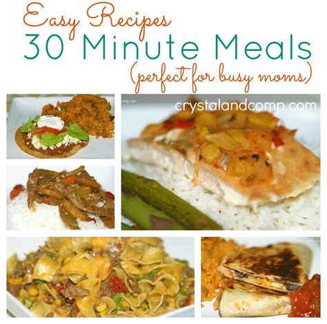 recipes for simple meals 30 minute meals 17 fast cooking dinners