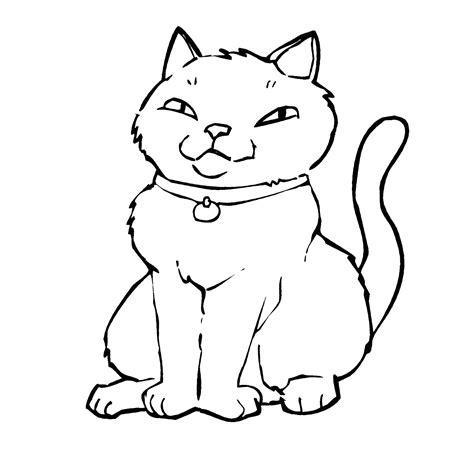 disegni  gatti facili da disegnare