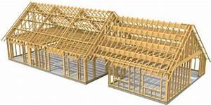 cm bois et habitat construction de maisons a ossature With maquette d une maison 13 ossature bois