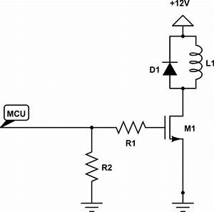 solenoid driving circuit electrical engineering stack With solenoid circuit
