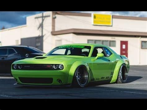 Hulk Green Dodge Challenger Scat Pack Gets Liberty Walk