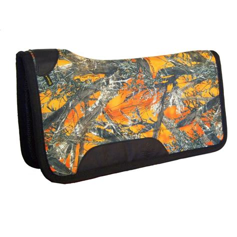 in cell western camo western saddle pad