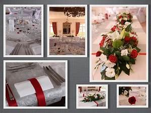 Décoration Mariage Rouge Et Blanc : decoration mariage rouge blanc et argent le mariage ~ Melissatoandfro.com Idées de Décoration
