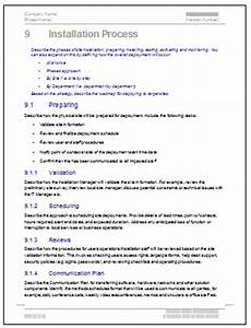 deployment plan template With software deployment document template