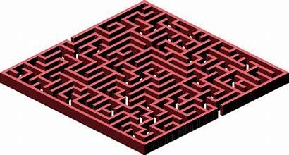 Maze 3d Labyrinth Clipart Puzzle Clip Square