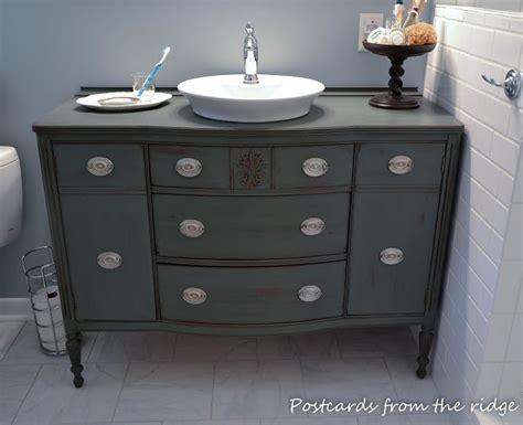 old dressers made into sinks dresser vanity grey distressed love the color would