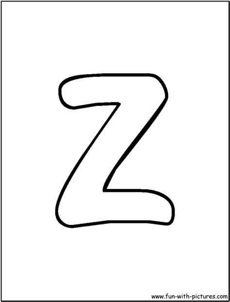 bubble letters a z letter z coloring page 20715 | bubble letter z