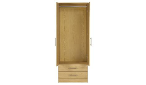 2 Door Wardrobe With Mirror And Drawers by George Home Roselyn 2 Door Wardrobe With Mirror And 2