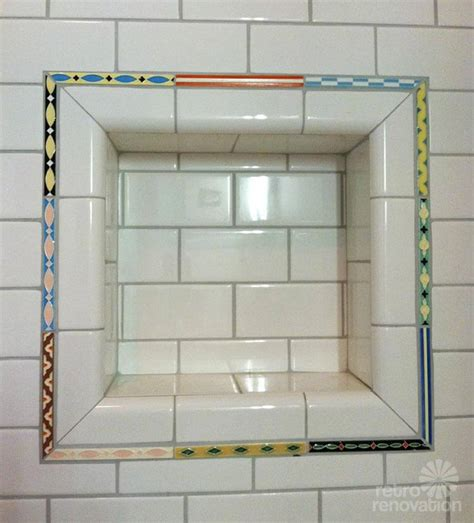 hand painted bathroom liner tiles