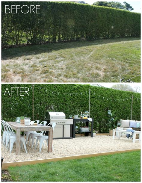 backyard before and after pictures backyard patio challenge city farmhouse