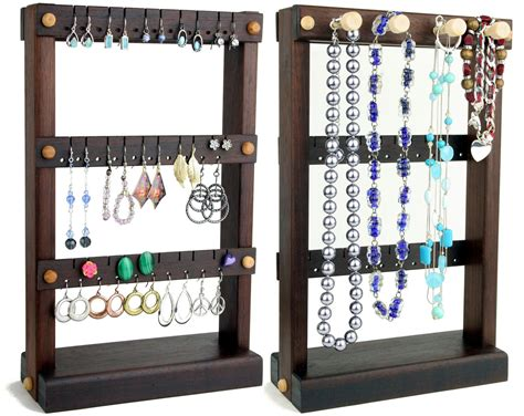 Jewelry Holder Stand, Earring Holder, Wood Pattern For Hanging Jewelry Organizer Polymer Clay Extruder Beautiful Religious Septum Piercing Black Ring Indian Bridal Jewellery Birmingham Wedding Sets Teeth Books Free Download
