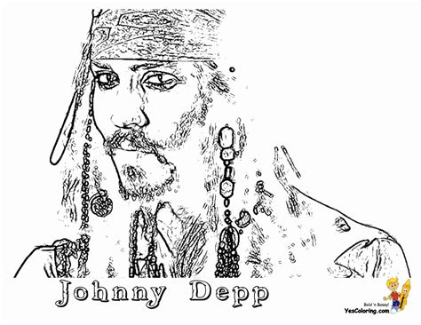 Pirates Caribbean Coloring Pages