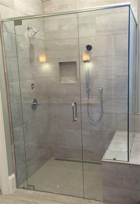 Frameless Showers With Header  Frameless Shower Doors. Home Depot Garage Cabinets. Kitchen Cabinet Door Hinges. Door Viewer Digital. Rod Iron Door
