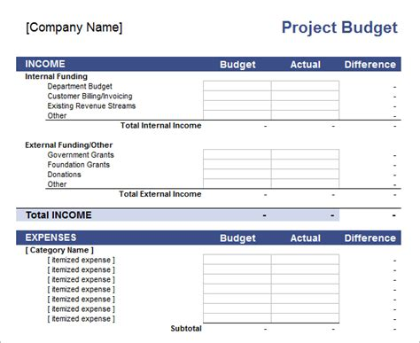 how to create a project budget project budget template excel calendar template excel