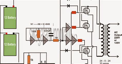 Make Watt Mosfet Sine Wave Inverter Circuit