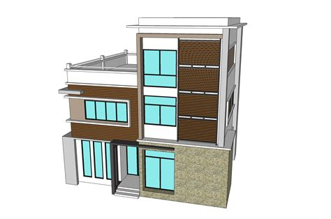 K&d Home Design : 3 Storey Town House & Office