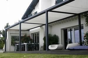Terrassenüberdachung Aus Stoff : die 25 besten ideen zu berdachung terrasse auf pinterest beschattung terrasse ~ Markanthonyermac.com Haus und Dekorationen