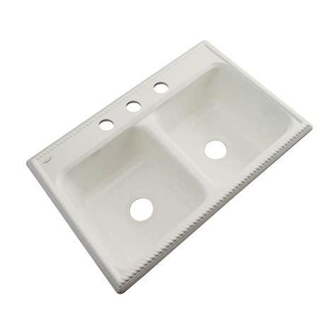 thermocast breckenridge drop in acrylic 33 in 4 bowl kitchen sink in tender grey