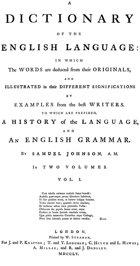 Page View A Dictionary of the English Language