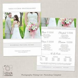 Wedding photography package pricing list template for Wedding photography packages samples
