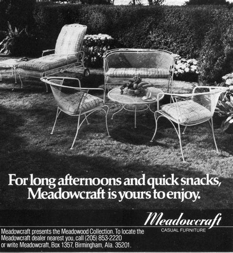 meadowcraft 1960s ad a reliable furniture supplier for