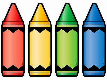 Crayon Crayons Clipart Board Accents Teacher Labels
