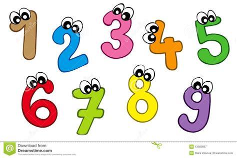 Cartoon Numbers Clipart