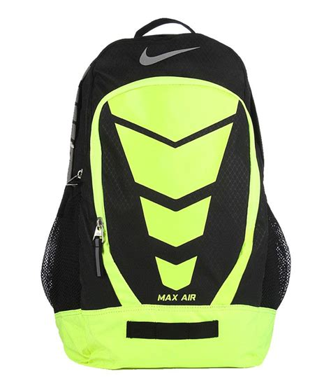 nike black and green polyester backpack