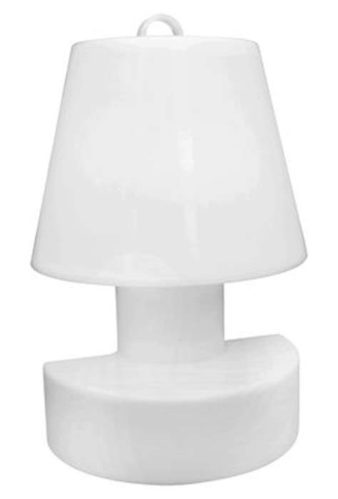 applique portable sans fil rechargeable h 28 cm blanc bloom