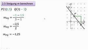 Steigung Berechnen Formel : 2 5 4 5 steigung m berechnen youtube ~ Themetempest.com Abrechnung