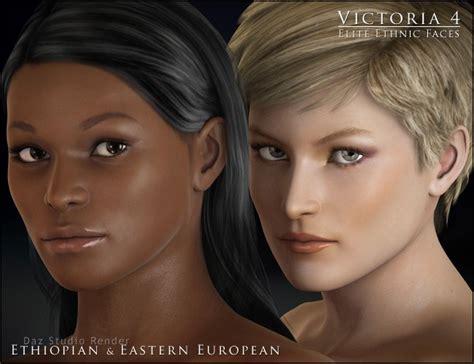 elite ethnic faces humanoid morphs  daz studio