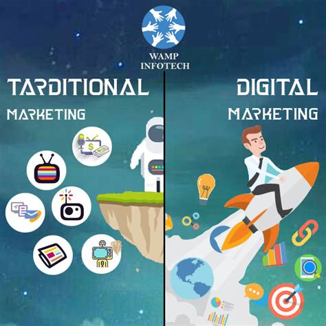 digital and marketing the difference between traditional marketing and digital
