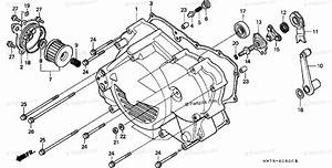 Honda Atv 1996 Oem Parts Diagram For Crankcase Cover  Fr