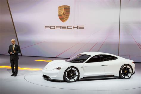 porsche electric mission e porsche mission e electric car production set at 15 000
