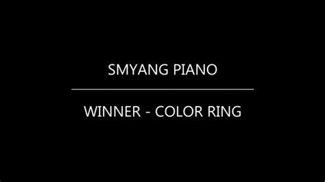 Winner  컬러링 (color Ring) (piano Tutorial) Youtube