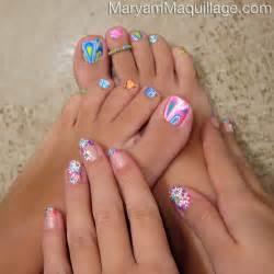 Maryam maquillage nail art toe