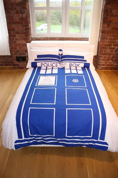 doctor who tardis comforter set