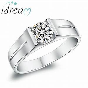 cubic zirconia diamond engagement ring for men 925 With single diamond wedding ring