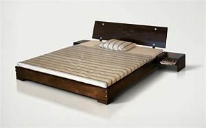 Lit Bas Adulte : achat lit design en bois massif atola avec ou sans chevets ~ Teatrodelosmanantiales.com Idées de Décoration