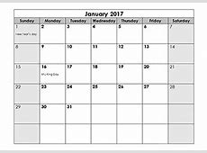 2017 Calendar Templates Download 2017 monthly & yearly