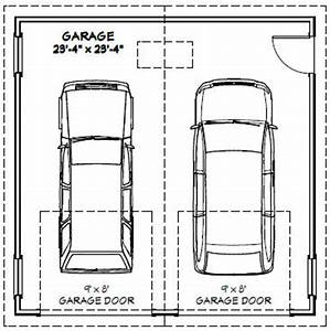 24x24 2 car garage 24x24g1 576 sq ft excellent With porte garage double dimension