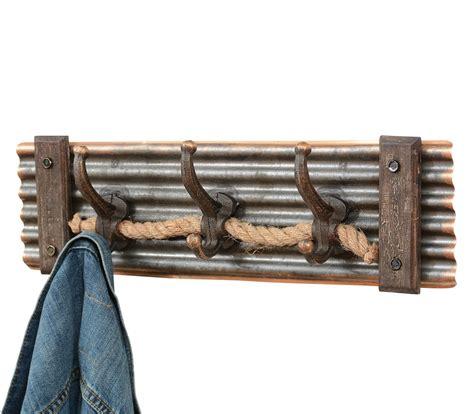 rustic rope coat rack