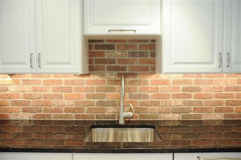 Thin Brick Kitchen Backsplash : Sleek & Simple Transitional Kitchen In West Chester