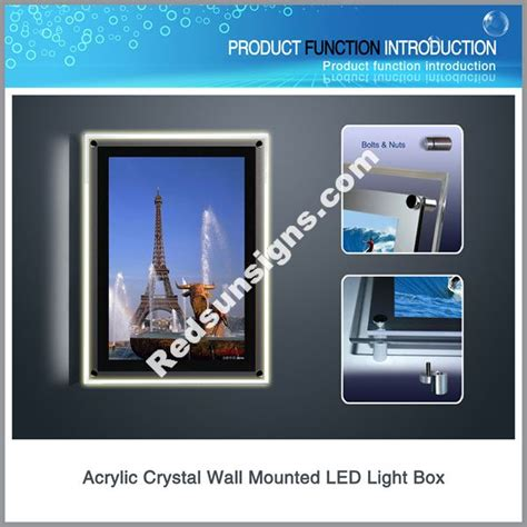 single side wall mounted led light box