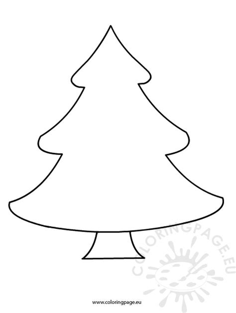 free christmas tree template coloring page