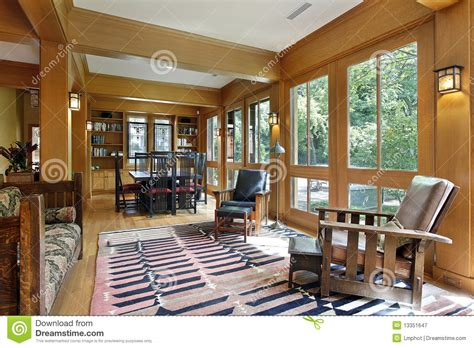Dining Room With Wood Trim Royalty Free Stock Photography