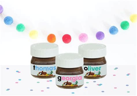 The label states that nutella does not need to be refrigerated. 12 x Personalised Mini Nutella Jar Labels in Colours- Printable Download   Jar labels, Nutella ...