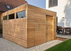 Schiebetür Für Gartenhaus : design gartenhaus mit l rchenholz und schiebet r als ~ Whattoseeinmadrid.com Haus und Dekorationen